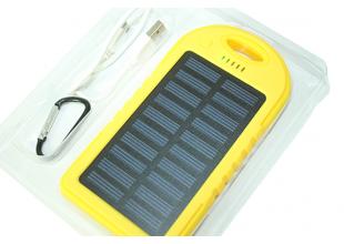 Power Bank (Solar) Переносной аккумулятор на солнечной батарее со светодиодом (5000 mAh)