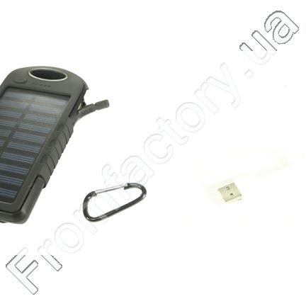 Power Bank (Solar) Переносной аккумулятор на солнечной батарее с прожектором (8000 mAh)