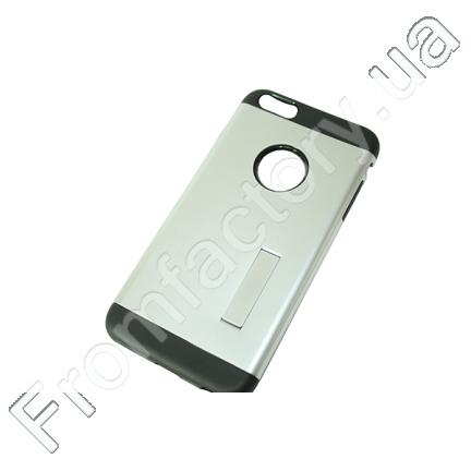 Чехол на IPhone 5/5S/SE (задняя крышка с подставкой/серебряный)