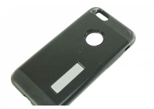 Чехол на IPhone 6 plus/6S plus (задняя крышка с подставкой/черный)