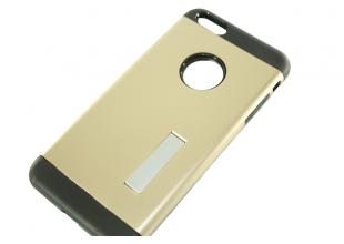Чехол на IPhone 6/6S (задняя крышка с подставкой/золотой)