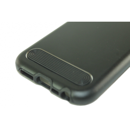Чехол на Apple IPhone 5/5S/SE задняя крышка металлическая (Черный)