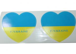 Наклейки 2шт (Heart UKRAINE) 10х10см