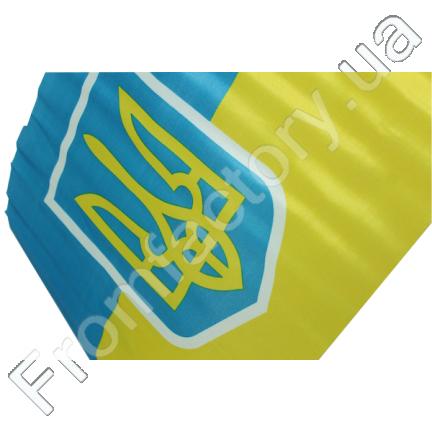 Флаг автомобильный двусторонний (UKRAINE) 30х45см