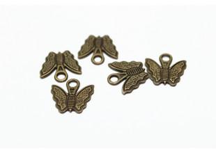 Бабочка бижутерная металлическая набор (10шт.) 1 х1 см