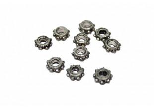 Шестеренки металлические для бижутерии (6мм/10шт)
