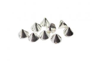 Шипы керамические для одежды пришивные (Серебряные/10мм/20шт)