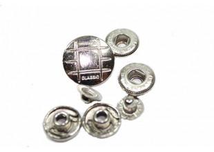 Кнопки для одежды серебристые (10шт/19мм)
