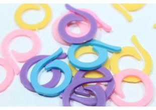 Маркеры для вязания (спираль) набор 20шт.