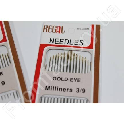 Иголки для ручного шитья (GOLD – EYE) Sharps 9 (с тоненькими ушками, 20 игл)
