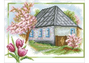 """К416 """"ДОМ"""" Канва с рисунком для вышивания крестом"""