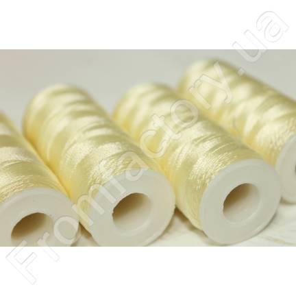 Нитки шелковые (для бисера) белые 210D